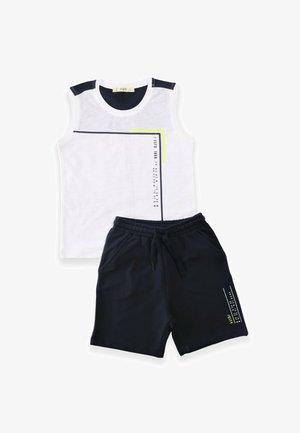 SET - Shorts - white/darkblue