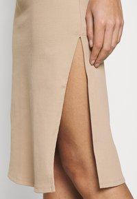 Abercrombie & Fitch - MIDI DRESS - Day dress - neutral brown - 5