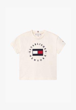 HERITAGE LOGO - Camiseta estampada - ivory petal