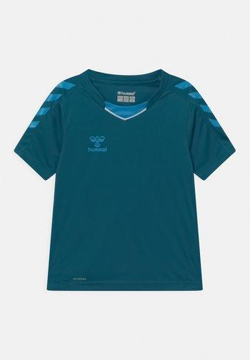 CORE POLY UNISEX - Print T-shirt - blue coral