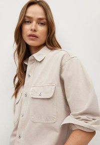 Mango - MAIA - Button-down blouse - beige - 3
