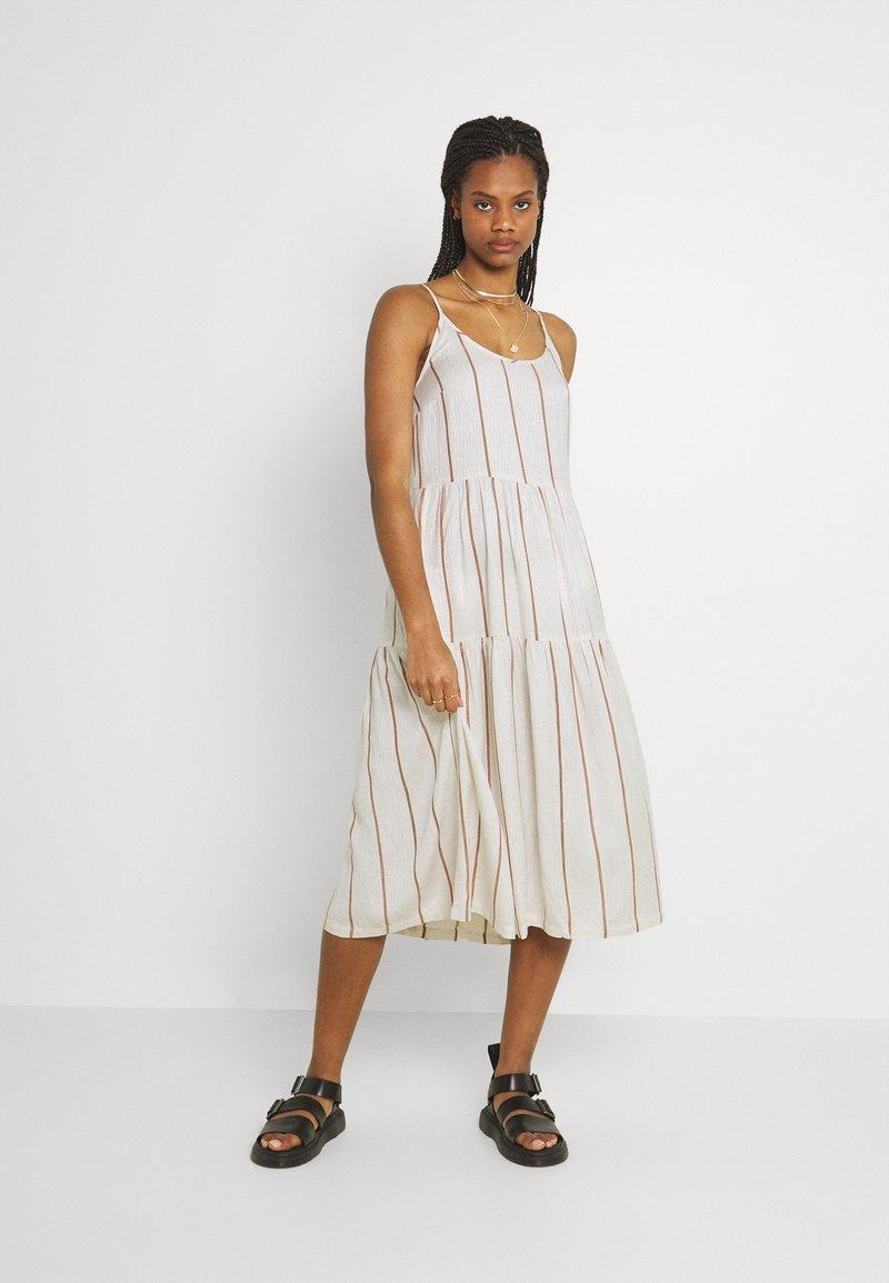 YAS - YASTRIMLA STRAP DRESS  - Korte jurk - tapioca
