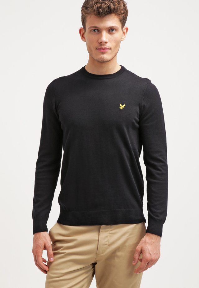 CREW NECK JUMPER - Pullover - true black