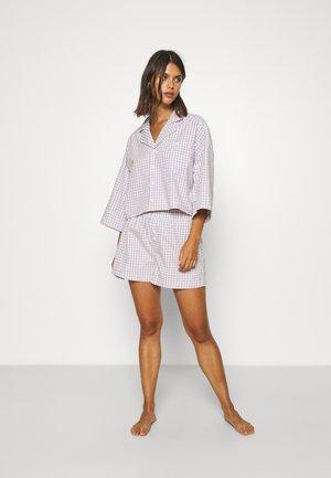 Pyjama set - lilac purple/dusty light gingham