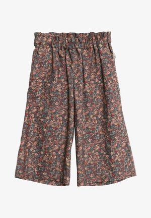 Trousers - petroleum flowers