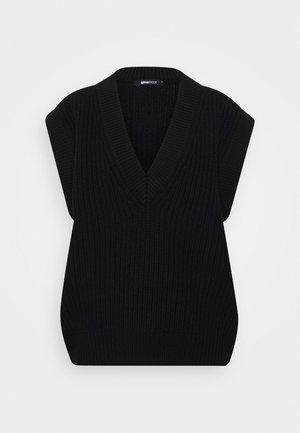 JOHANNA - Stickad tröja - black