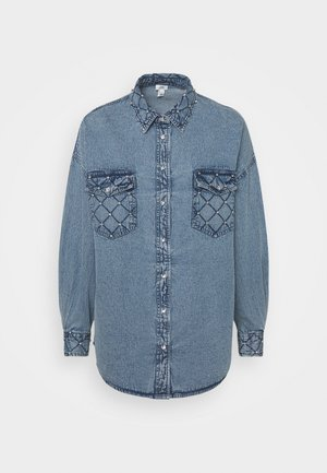 Button-down blouse - denim blue