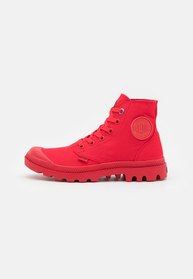 MONO CHROME - Lace-up ankle boots - red