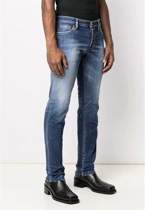 SLIM CROPPED MEDIUM SANDY WASH - Slim fit jeans - azul