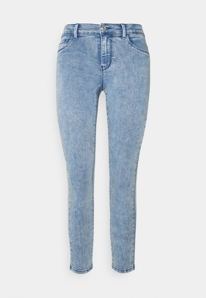 ONLRAIN ACID WASH - Vaqueros pitillo - medium blue denim