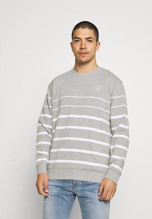 PLACEMENT STRIPE - Sweatshirt - grey marl