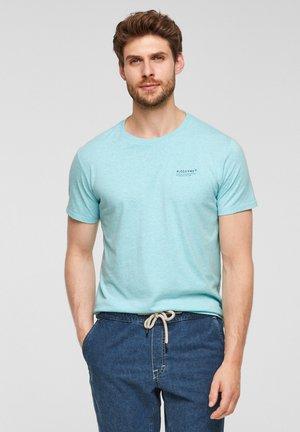 T-shirt basic - aqua melange