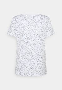 edc by Esprit - V NECK TEE - Print T-shirt - white - 1