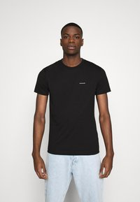 Calvin Klein Jeans - TEE INSTITUTIONAL LOGO 2 PACK - T-shirt print - black - 3