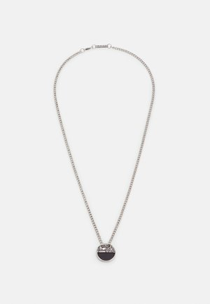 CRACKED HALF DISK NECKLACE - Ketting - silver-coloured