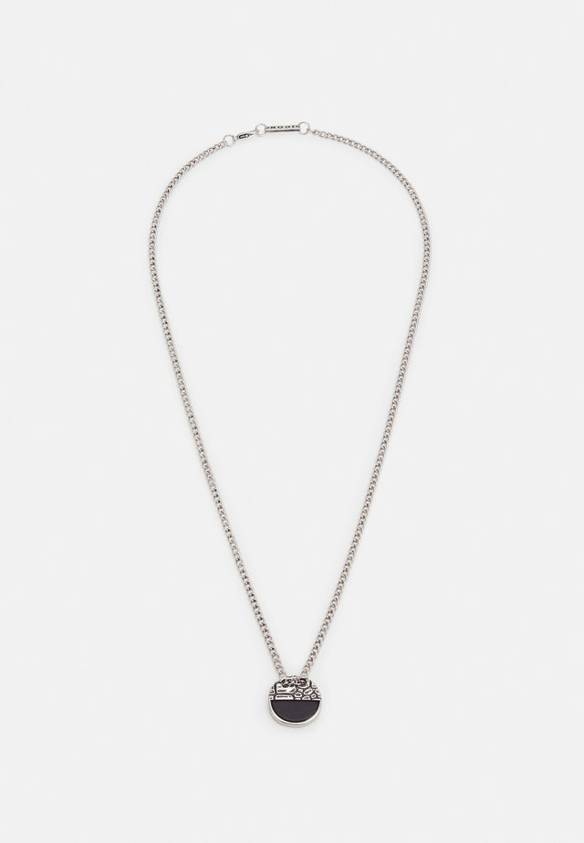 CRACKED HALF DISK NECKLACE - Necklace - silver-coloured