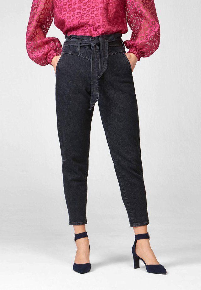 Jeans Tapered Fit - nachtschwarz