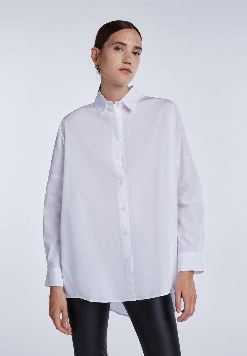 SET - Button-down blouse - bright white