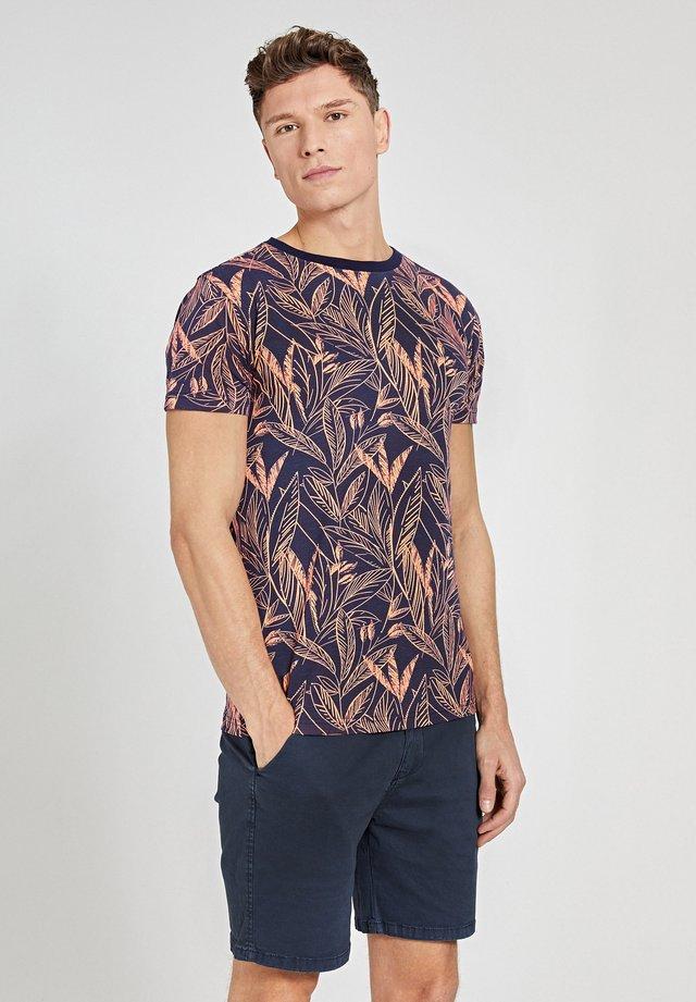 T-shirt imprimé - neon orange
