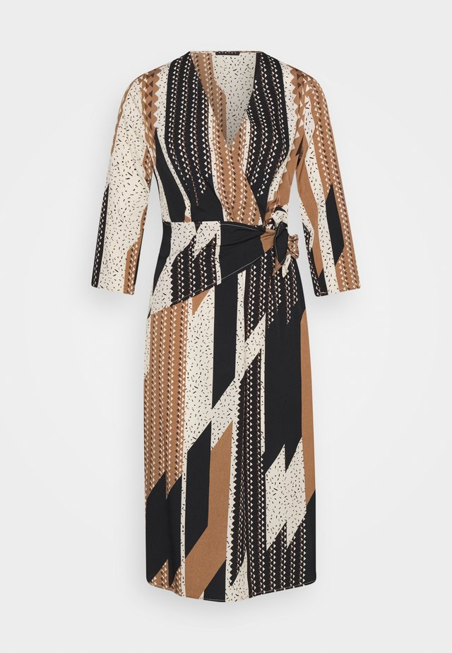 DRESS - Korte jurk - light brown/beige