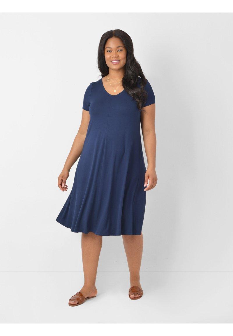 Live Unlimited London - Jersey dress - dark blue