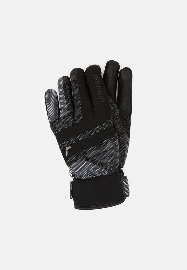 LAURIN R-TEX® XT - Fingervantar - black/white