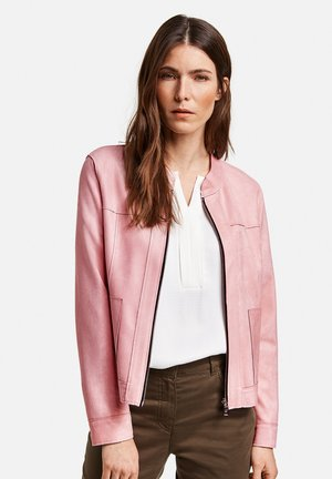 Faux leather jacket - rose