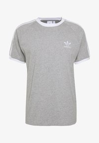 adidas Originals - 3 STRIPES TEE UNISEX - Print T-shirt - grey - 3