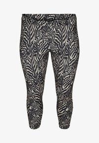Zizzi - Leggings - Trousers - black zebra aop - 3