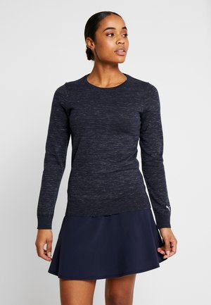 CREWNECK SWEATER - Long sleeved top - peacoat heather