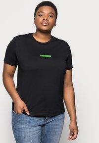 Calvin Klein Jeans Plus - CENSORED TEE - Print T-shirt - black - 3