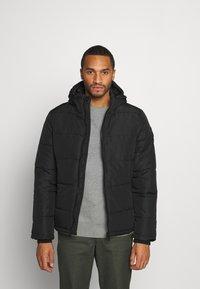 Burton Menswear London - MIDWEIGHT PUFFER - Talvitakki - black - 0