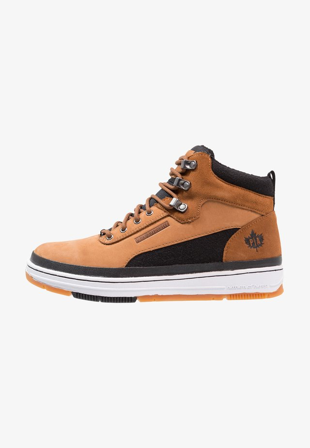 Sneakers hoog - dark honey