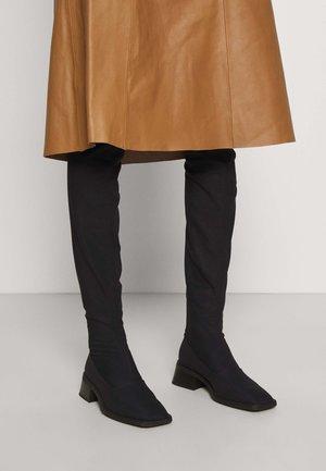 BLANCA - Overknee laarzen - black