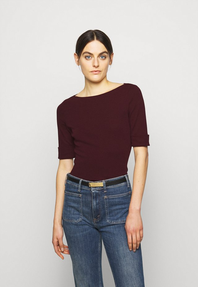 T-shirt basic - pinot noir