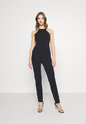 YELDA SCALLOP NECK - Jumpsuit - navy blue