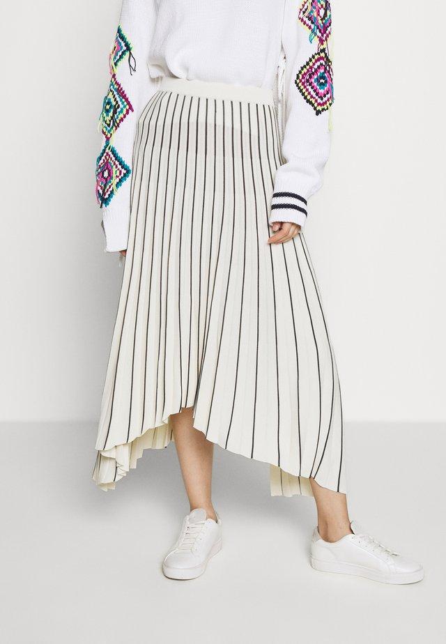 PLEAT SKIRT - Pleated skirt - beige/black