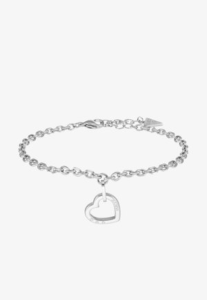HEARTED CHAIN - Armbånd - silver-coloured