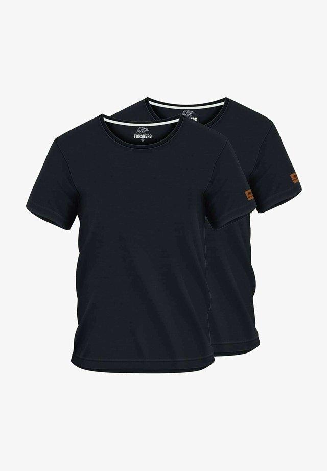 2 PACK - Basic T-shirt - schwarz