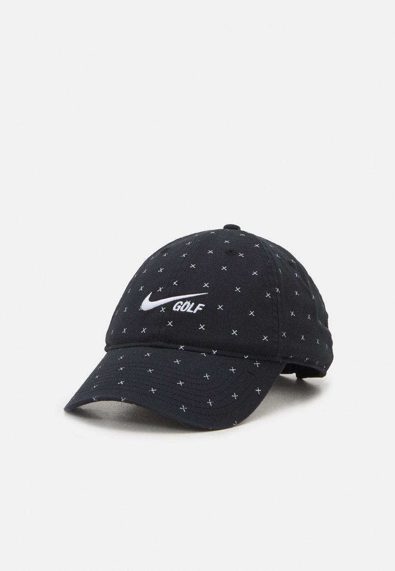 Nike Golf - WASHED CLUB  - Lippalakki - black/white