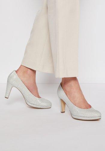 Høye hæler - silber