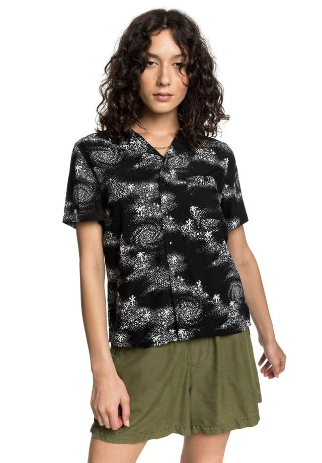 CAMP - Button-down blouse - black cosmic rip