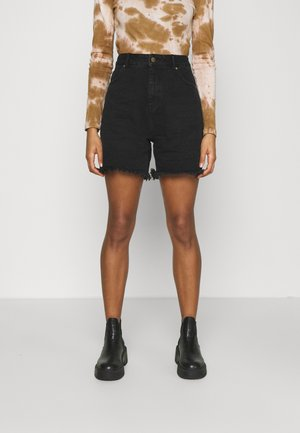 SHELBY - Denim shorts - washed black