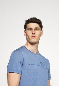 Houdini - TREE MESSAGE TEE - T-shirt print - blue - 3