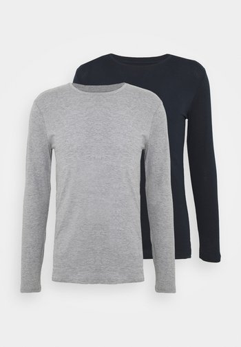 2 PACK - Långärmad tröja - dark blue/mottled grey