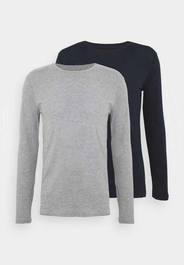 2 PACK - Top sdlouhým rukávem - dark blue/mottled grey