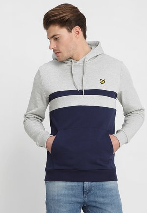 YOKE STRIPE HOODIE - Sweat à capuche - light grey marl