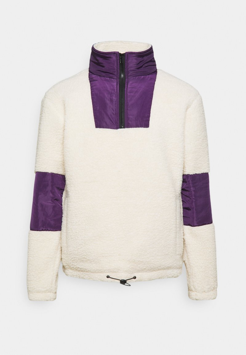 Another Influence - CARSON BORG FUNNEL NECK JACKET - Chaqueta fina - ecru