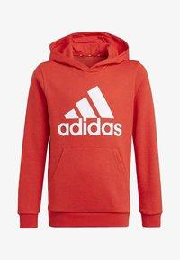 adidas Performance - ADIDAS ESSENTIALS HOODIE - Jersey con capucha - red - 0