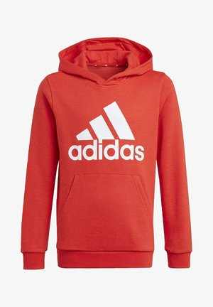 ADIDAS ESSENTIALS HOODIE - Bluza z kapturem - red